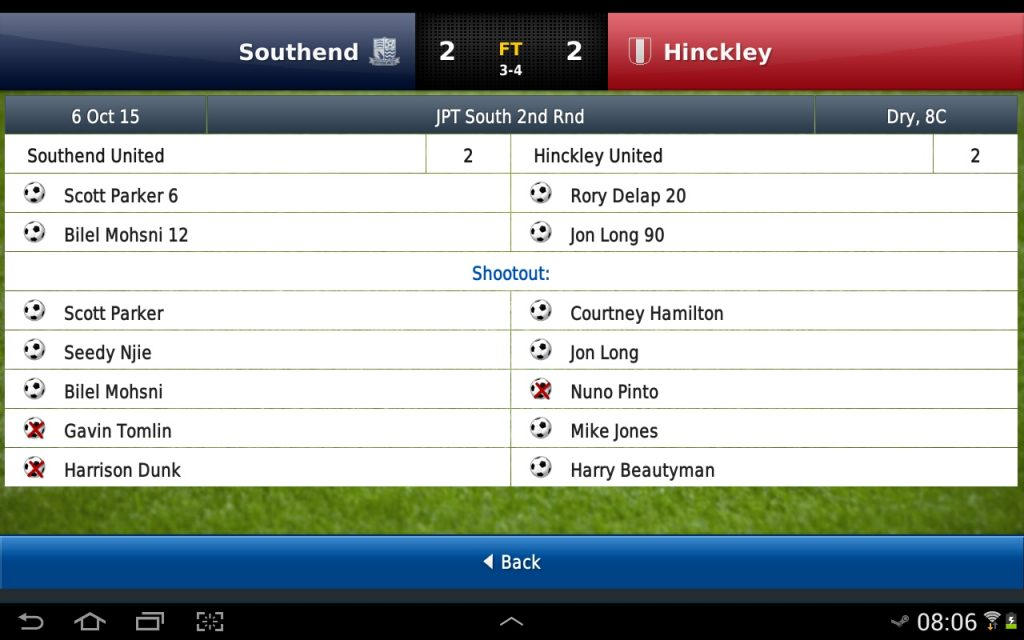 Football Manager Handheld Screeny