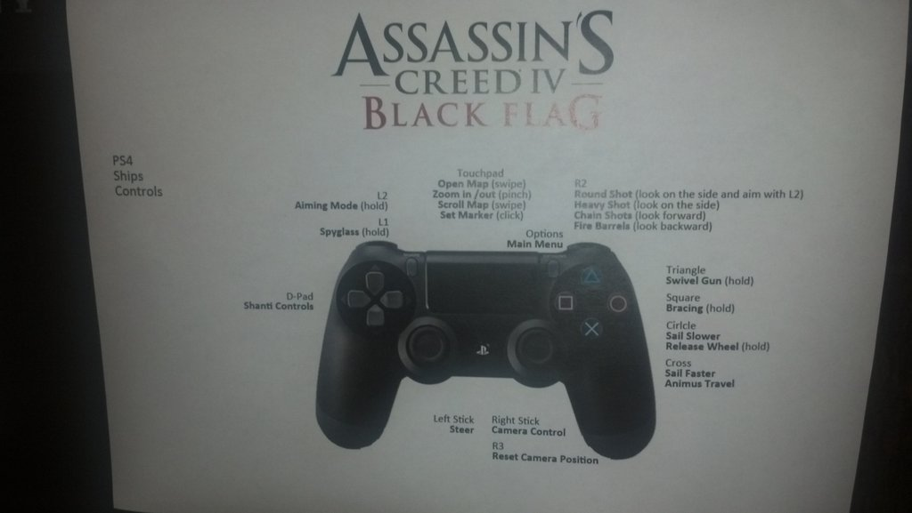 Assassin S Creed Iv Black Flag Playstation 4 Controller Layout