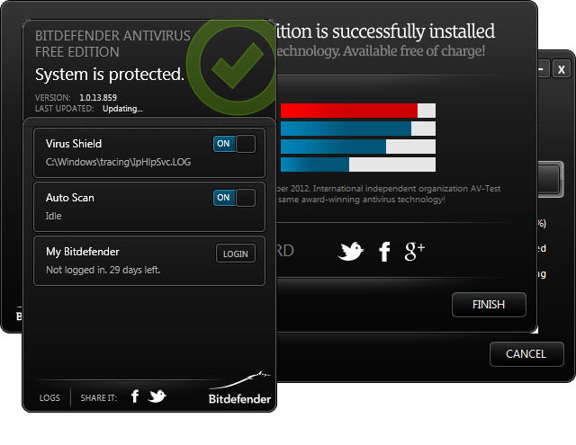 Windows 7 BitDefender Free Edition 1.0.15.141 full
