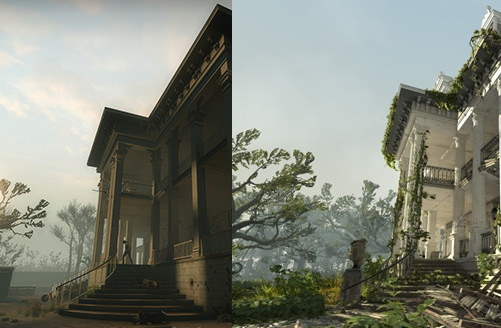 Plantation level, Left for Dead 2, rendered with the Source engine ...