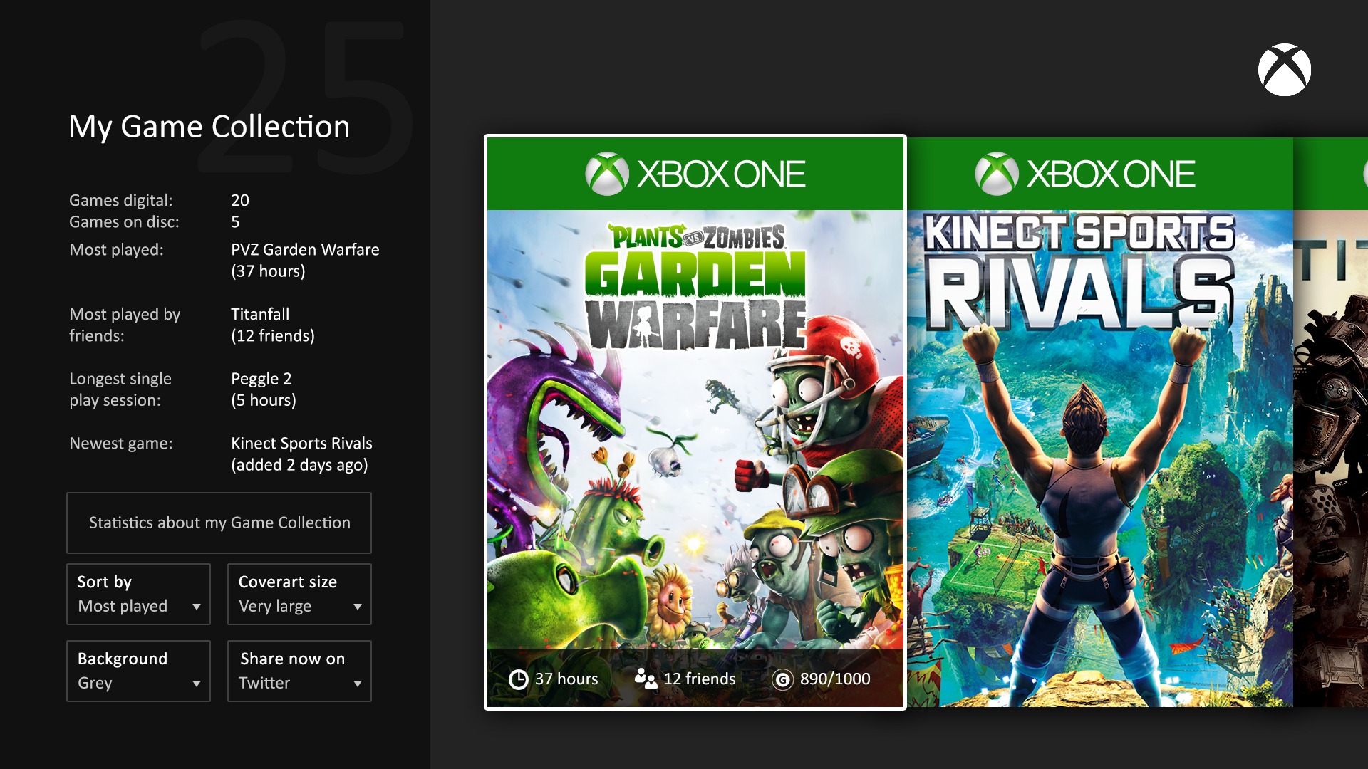 What Are Available For The Xbox One Games : This user made xbox one games library mockup is neat