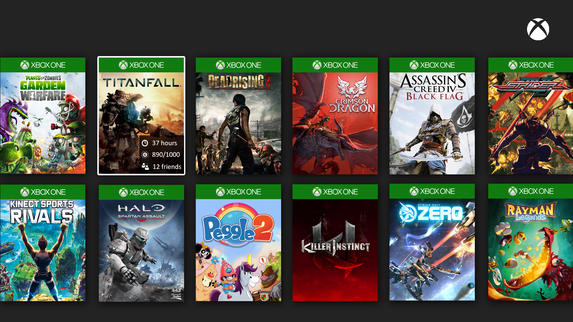 New Just Released Xbox 1 Game : This user made xbox one games library mockup is neat