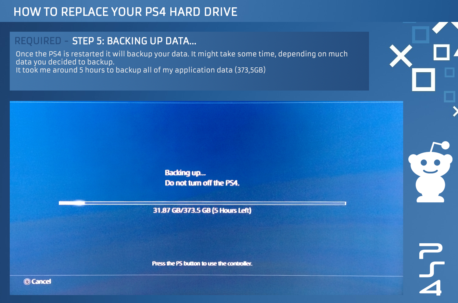 how to transfer games from ps4 to hard drive