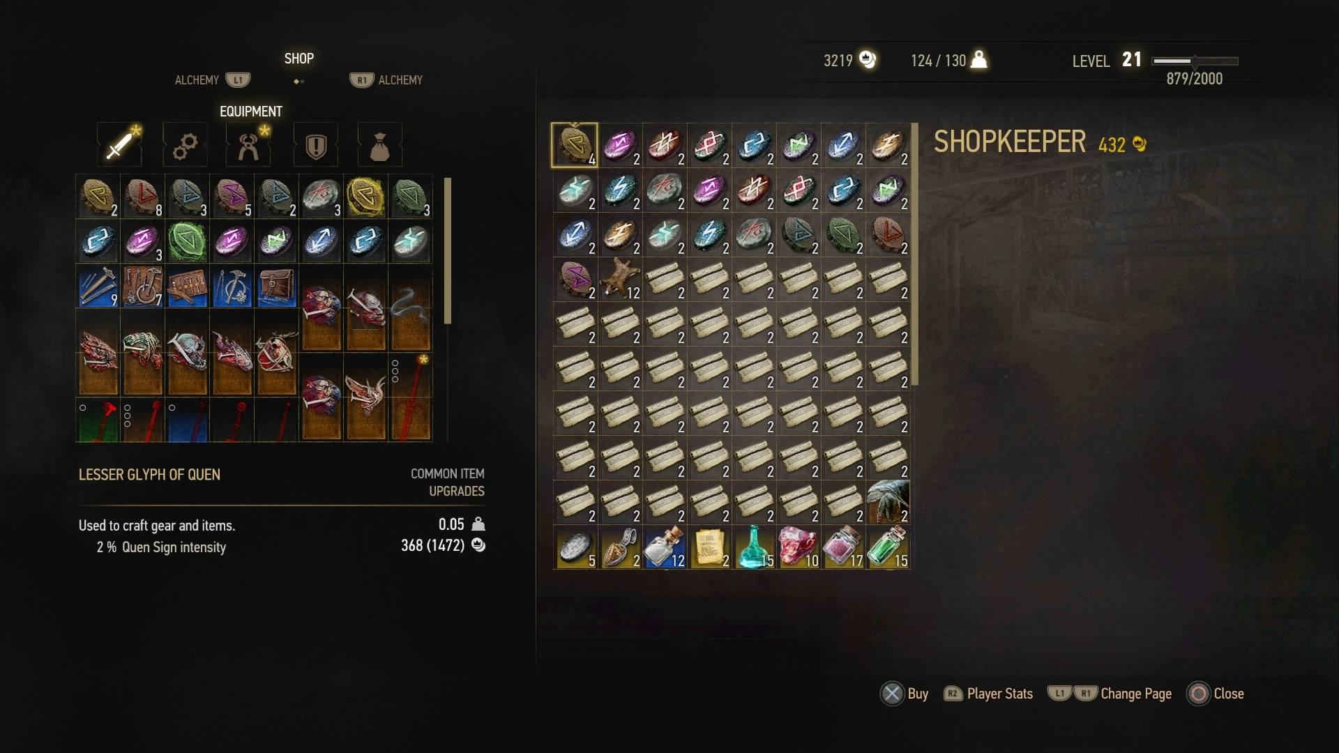 Crafting Runes Witcher
