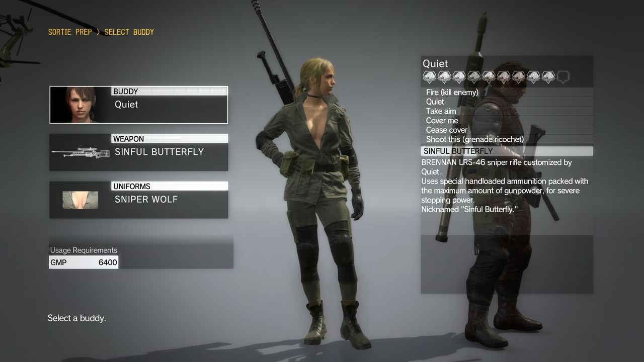 mgsv,quiet,sniper,wolf,outfit