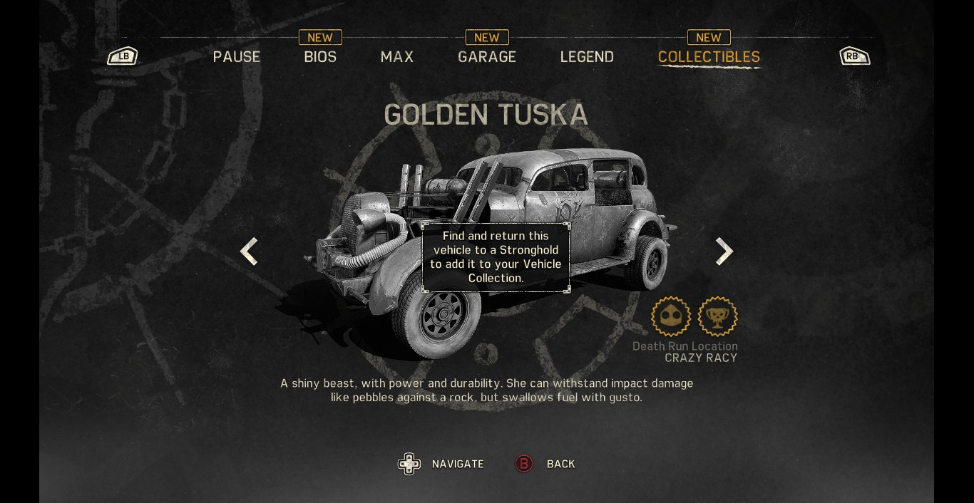 Mad max guide how to get golden tuska rare car location and map mad max golden tuska 3 gumiabroncs Gallery