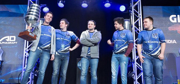 Vega Squadron after defeating Team Secret with 2-1 at ESL One New York