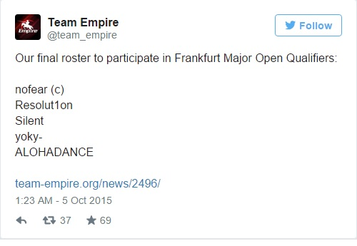 Team Empire finalizing their roaster