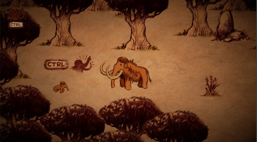 a cave painting