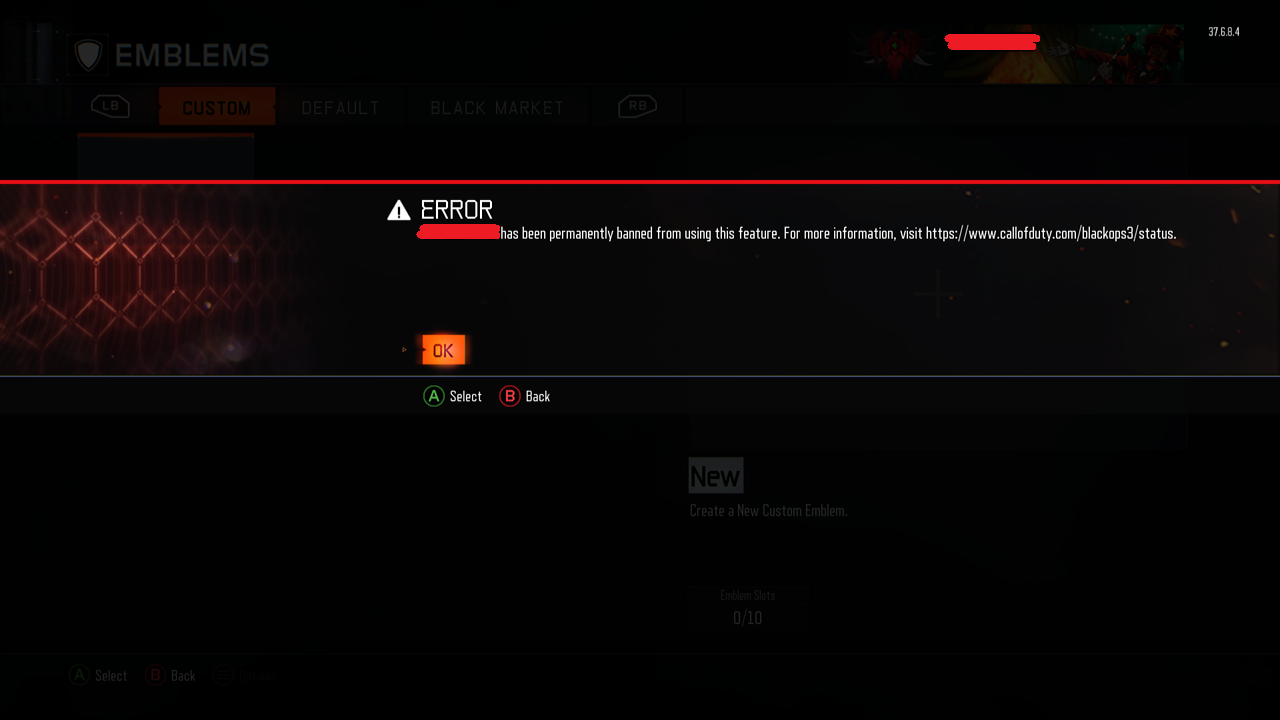 treyarch permanently bans users from creating offensive custom black ops 3 permanent ban