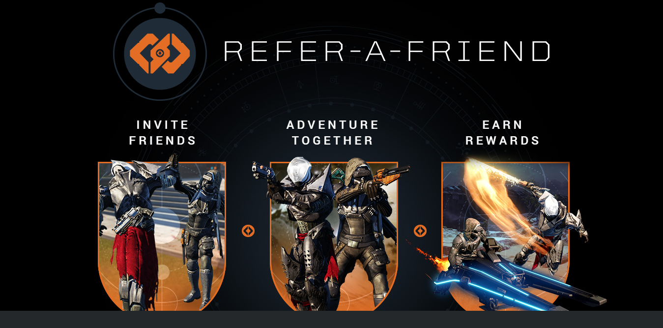 Destiny heres how to qualify for refer a friend campaign details destiny heres how to qualify for refer a friend campaign details for referees and veterans stopboris Image collections