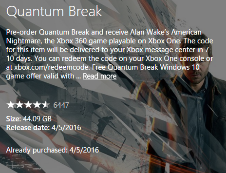 Quantum Break Has Gone Gold
