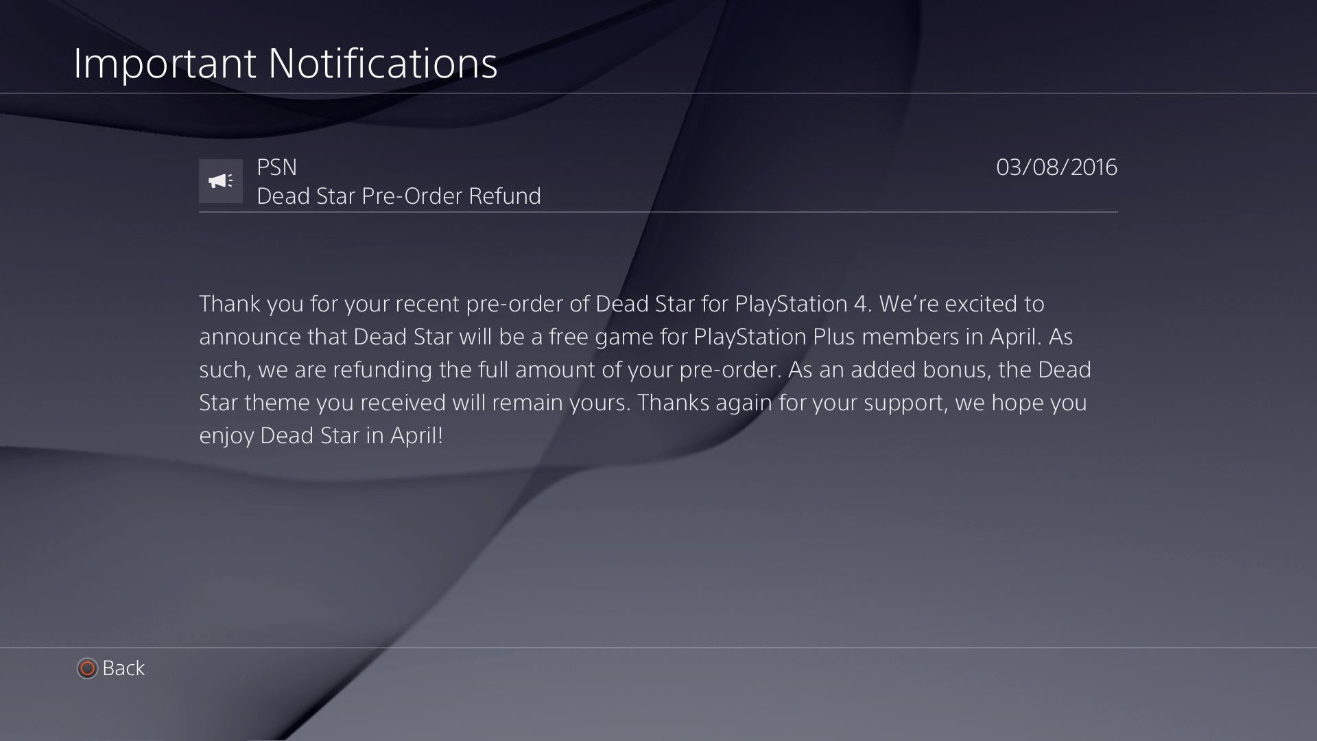 Dead Star For PS4 Removed From PS Store, Pre-Orders Refunded ...