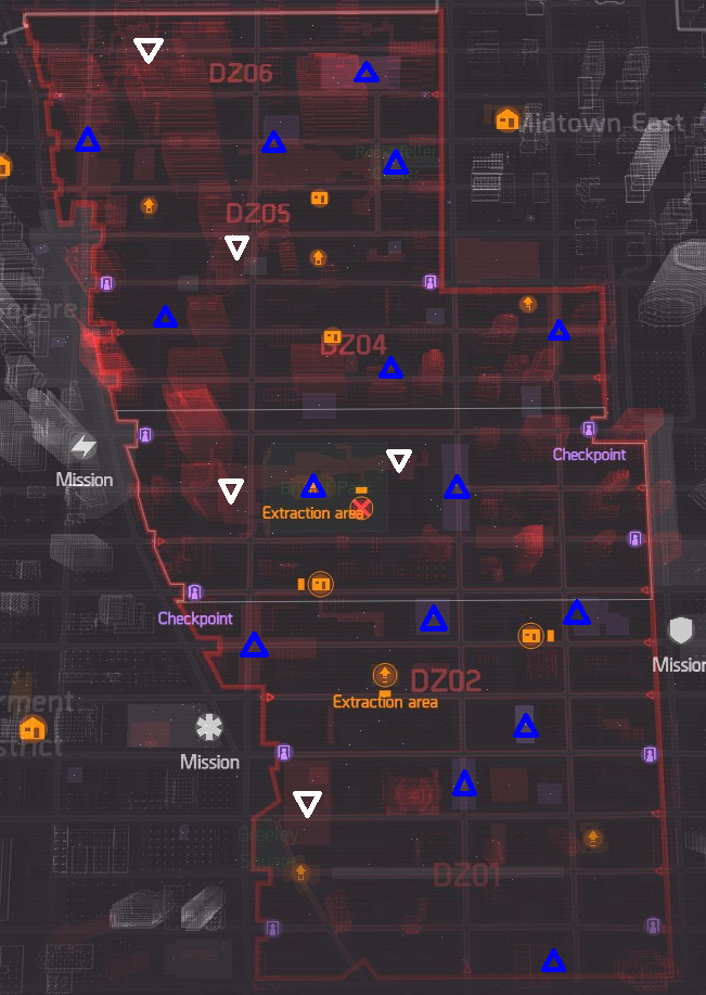 The Division Guide All Dark Zone Boss Locations Map