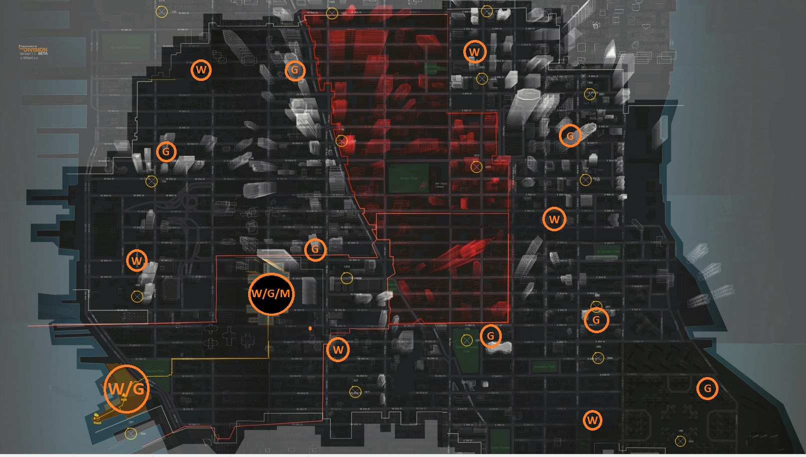 The Division Guide All Gear Weapon Mod Vendors Location Map
