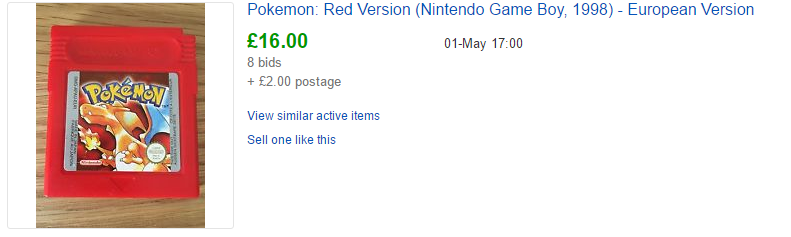 Pokemon Fire Red old price