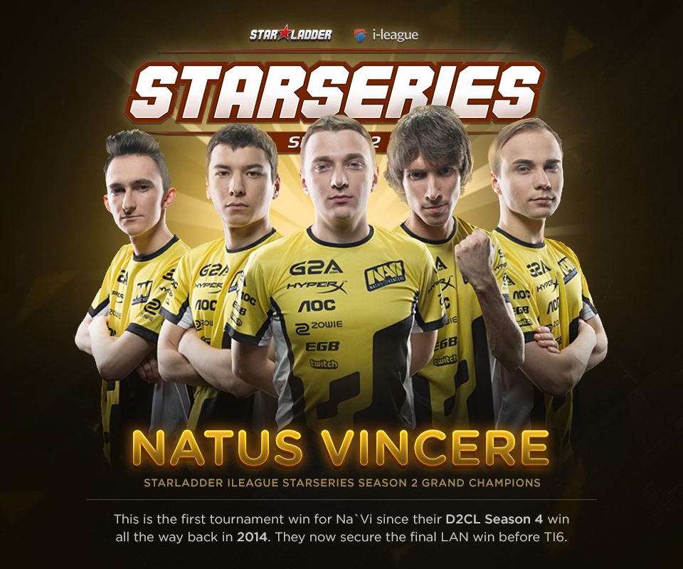 StarLadder i-League StarSeries Season Na'Vi Dota 2