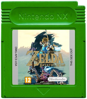 Nintendo NX Zelda Breath of the Wild cartridge