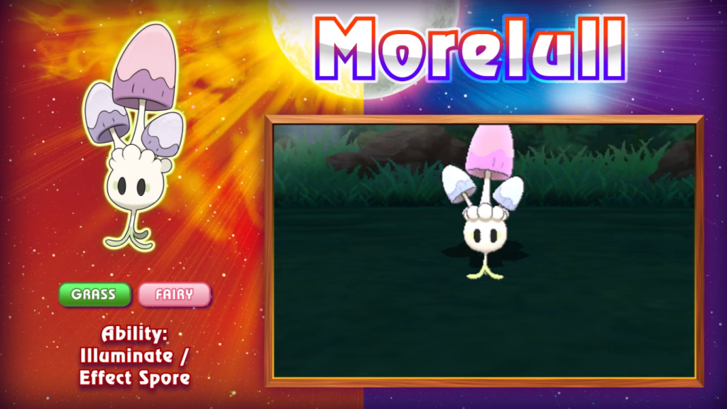 Pokemon Sun & Moon Morelull