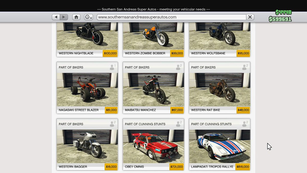 Gta Online Car Sell Price List