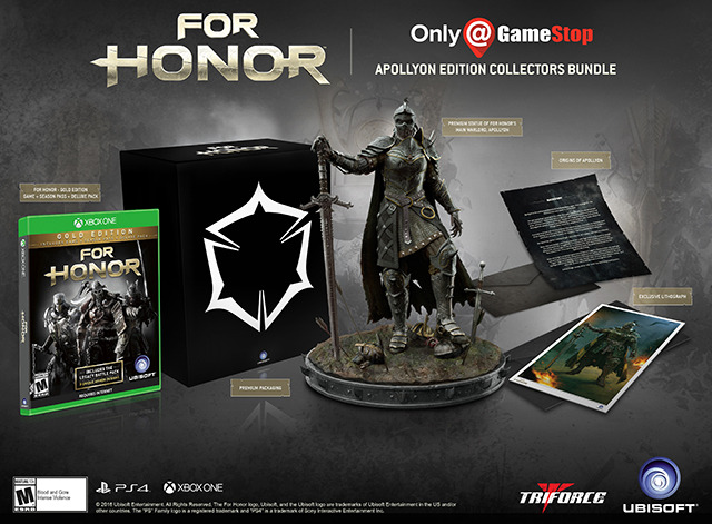 For Honor GameStop Collector's Edition