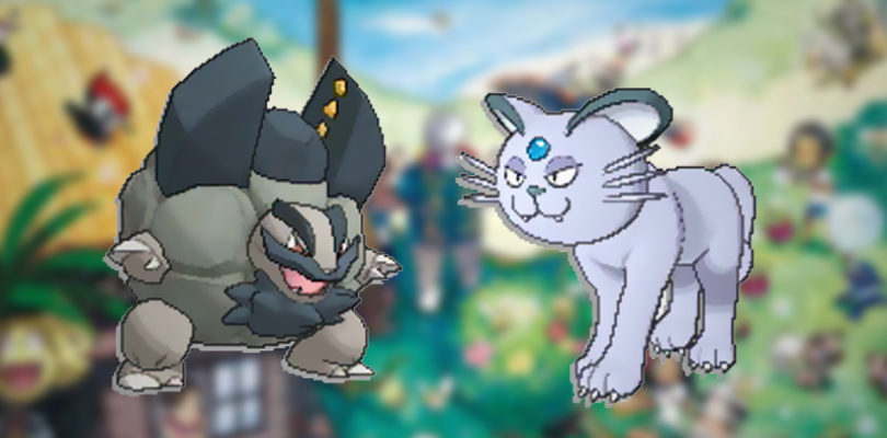 Pokemon-Sun-and-Moon-Persian-and-Golem