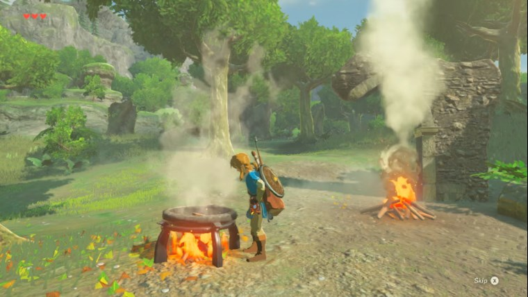 zelda breath of the wild how to start a fire. Black Bedroom Furniture Sets. Home Design Ideas