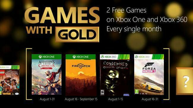 Xbox Games with Gold August Lineup Announced