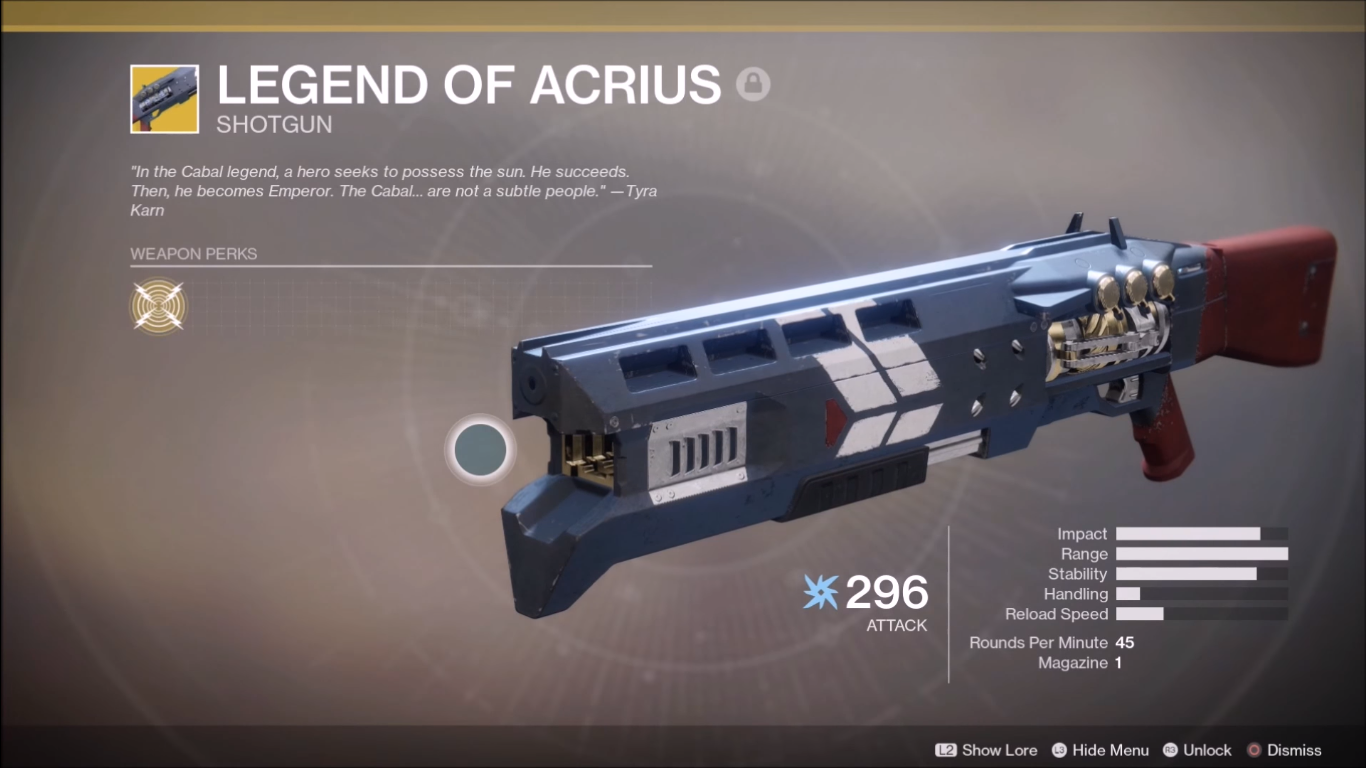 Destiny 2 Legend of Acrius