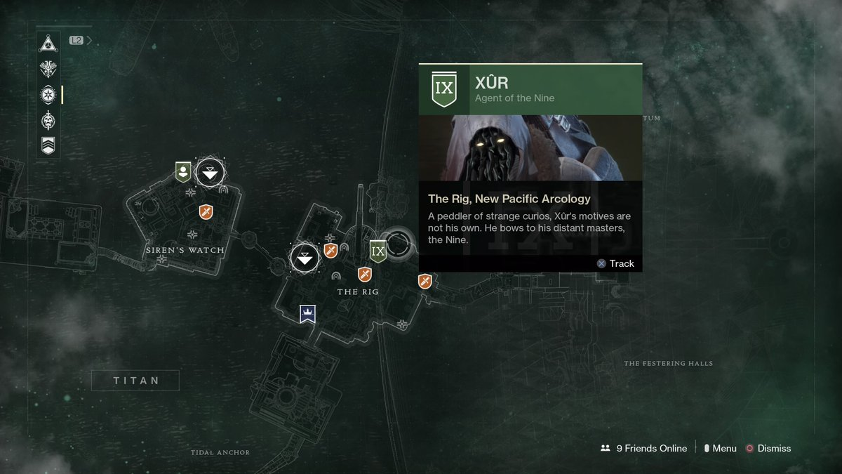 Destiny 2 Xur location and items, September 22-26