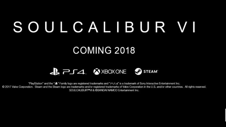 Soul Calibur VI announced during The Game Awards 2017