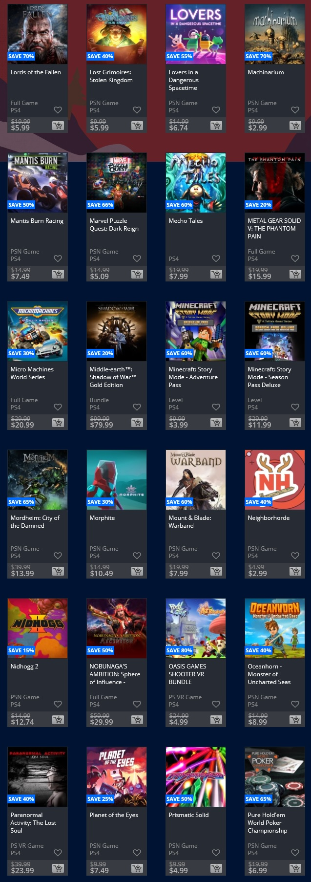 Playstation deals this week