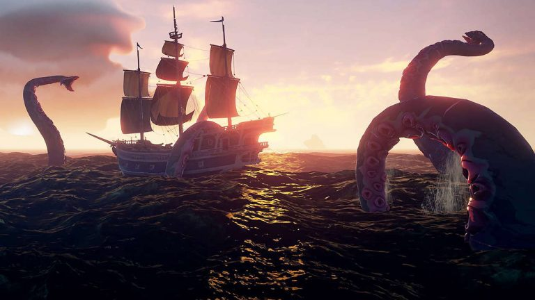 The first voyages on the Sea of Thieves