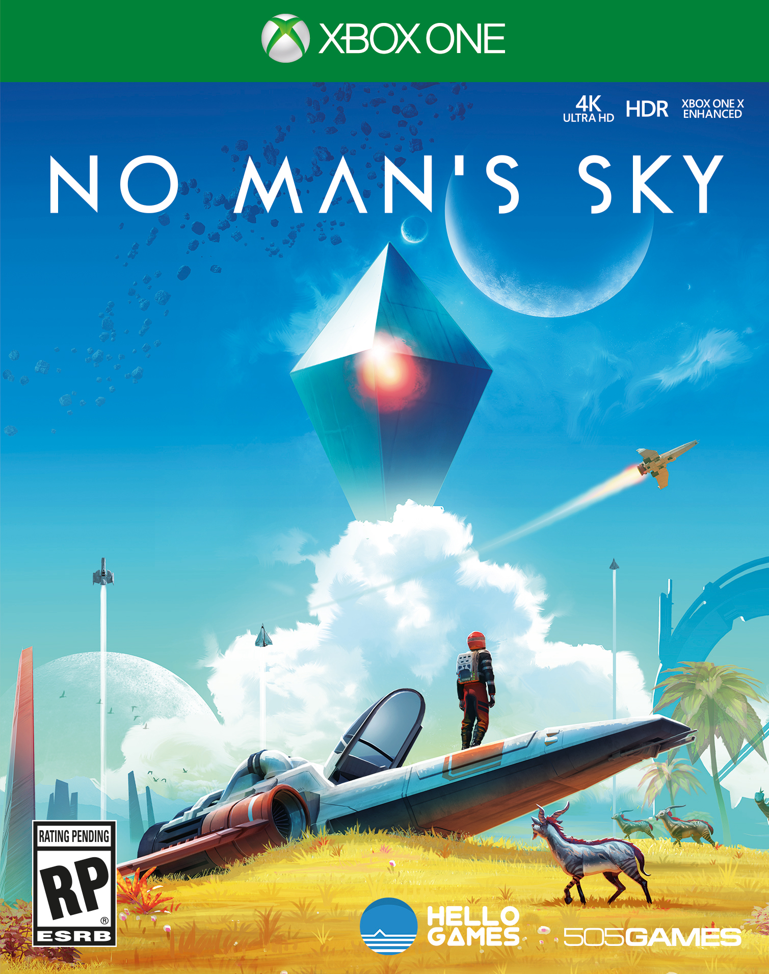 no man 39 s sky is coming to xbox one gets gorgeous boxart and new update details. Black Bedroom Furniture Sets. Home Design Ideas
