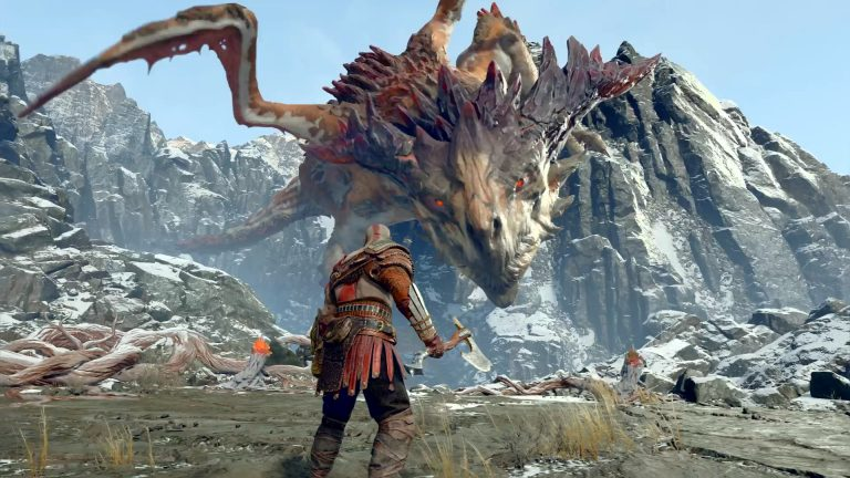 god of war ps4 boss fight guide how to beat mountain dragon hraezlyr