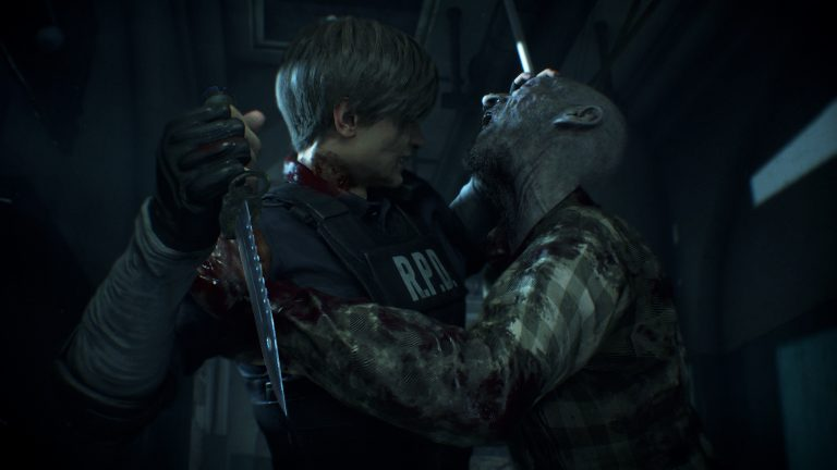 New Resident Evil 2 Remake Artwork Shows Leon And Claire Fighting