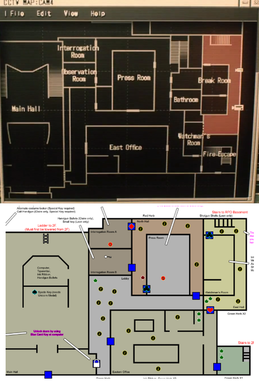 mapa do resident evil 2 remake