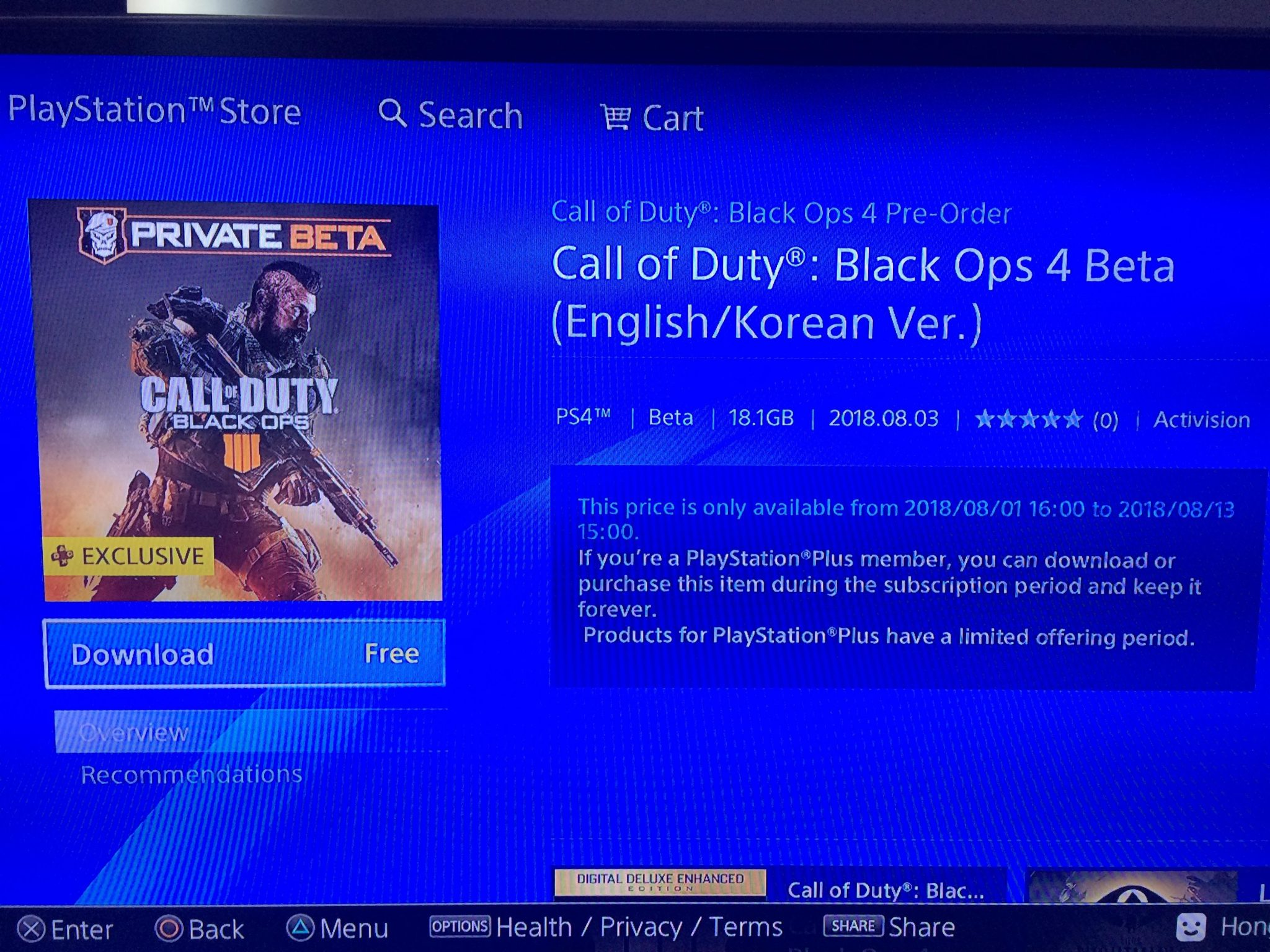 Cod Black Ops 4 How To Bypass Ps Plus For Free Mp Beta From Psn Hk Sg
