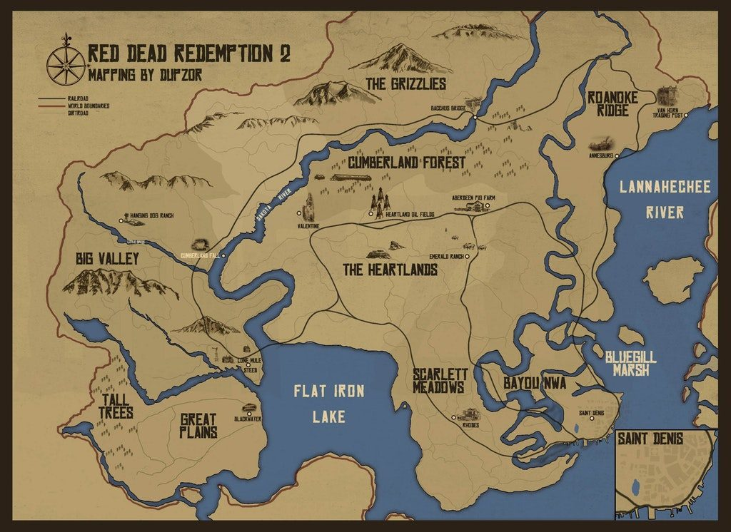 Red Dead Redemption 2 Fan-Made World Map Looks Amazing, Comparison ...